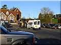 TQ7340 : Bent Bus at Bethany School Curtisden Green by Peter Skynner