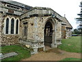TL2051 : St Mary the Virgin, Everton, Porch by Alexander P Kapp
