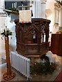 TL2051 : St Mary the Virgin, Everton, Pulpit by Alexander P Kapp