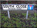 TM2851 : South Close sign by Adrian Cable