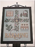 TQ7254 : Barming Village Sign (Close-up) by David Anstiss