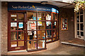 SJ7578 : Sue Ryder Charity Shop, Cotton Shop Yard, Knutsford by Roger A Smith