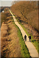 SK9472 : Fossdyke cycle path by Richard Croft