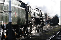 SK5419 : Steamy Loughborough Station by Chris Allen