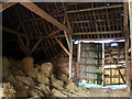 SU2576 : Timber roof inside New Barn, near Aldbourne by Vieve Forward