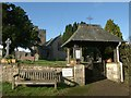 ST1502 : Lych gate and church, Combe Raleigh by Derek Harper