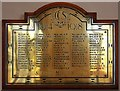 TQ4487 : St Margaret of Antioch, Balfour Road, Ilford - War Memorial WWI by John Salmon
