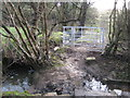 SJ9179 : New 'kissing-gate' Wych Farm, Adlington by Peter Turner