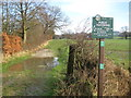 SJ9279 : Footpath junction between Whiteley Green and Adlington by Peter Turner