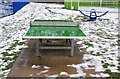 SO8377 : Outdoor table tennis table at Springfield Park, Kidderminster by P L Chadwick