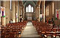 TQ2870 : St Barnabas, Gorringe Park Avenue, Mitcham - East end by John Salmon
