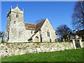 ST9723 : St Mary's Church, Alvediston by Miss Steel