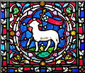 ST9723 : Agnus Dei, St Mary's Church by Miss Steel