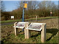 ST7270 : Information boards and a colourful flagpole by Neil Owen