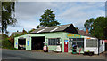 SJ8512 : Turner's Garage at Wheaton Aston, Staffordshire by Roger  Kidd