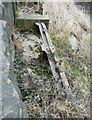 SE0026 : Remains of Penstocks alongside the River Calder, Mytholmroyd by Humphrey Bolton