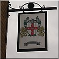 TQ3783 : The Bromley Arms (former pub sign), Bow by David Anstiss