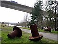 NZ2463 : 'Riverside Rivets', Gateshead Riverside Park by Andrew Curtis