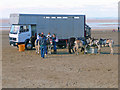 ST3161 : Weston-Super-Mare - Unloading The Donkeys by Chris Talbot