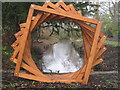 SJ7387 : Wooden sculpture Dunham Massey by Peter Turner