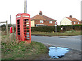 TG3820 : Disused K6 telephone box at Miles's Loke by Evelyn Simak
