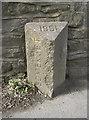 ST6168 : County boundary stone by Neil Owen