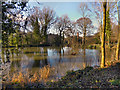 SJ8382 : Reservoir above Quarry Bank Mill by David Dixon