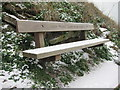 TQ8209 : Olly '9 Toes' Carey bench by Oast House Archive