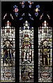 TQ2283 : St Mark, Bathurst Gardens, Kensal Rise - Stained glass window by John Salmon