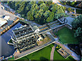SJ6475 : Anderton Boat Lift Aerial directly above by Edward Robinson