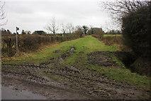 SJ8270 : Bridlepath entrance off Blackden (or Chapel?) Lane, Siddington by Peter Turner