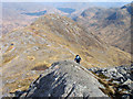 NM8775 : Rock rib on north ridge of Sgurr Ghiubhsachain by Trevor Littlewood