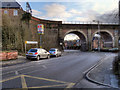 SJ5995 : Newton-le-Willows Station and Viaduct by David Dixon