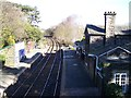 SJ5170 : Mouldsworth railway station from B5393 road bridge by Raymond Knapman