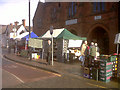 SJ7560 : Sandbach market  - fruit &amp; veg by Stephen Craven