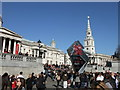 TQ2980 : London 2012 clock in Trafalgar Square-153 days to go by PAUL FARMER