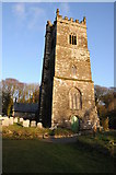 SX0882 : Lanteglos church by Philip Halling