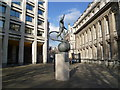 TQ2980 : Statue to Yuri Gagarin on the British Council Plaza by Ian Yarham