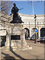 TQ2980 : Statue and Admiralty Arch, London SW1 by Christine Matthews