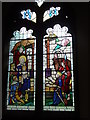 TQ6898 : Memorial window in All Saints Church, Stock by Marion Haworth