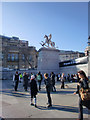 TQ2980 : Trafalgar Square, London SW1 by Christine Matthews