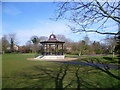 TQ5473 : Bandstand in Central Park, Dartford by Ian Yarham
