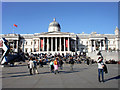 TQ2980 : Trafalgar Square and National Gallery, London SW1 by Christine Matthews