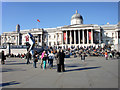 TQ3080 : Trafalgar Square and National Gallery, London SW1 by Christine Matthews