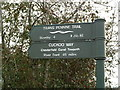 SK3872 : Cuckoo Way signpost by Graham Hogg
