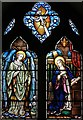 TQ4778 : St Michael & All Saints, Abbey Wood Road, Abbey Wood - Stained glass window by John Salmon