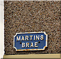 C8532 : Martins Brae sign, Coleraine by Albert Bridge