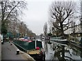 TQ2681 : Moored narrowboats near Little Venice by Christine Johnstone