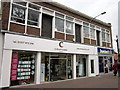 SO9670 : Bromsgrove High Street  Chapters Hair &amp; Dominos by Roy Hughes