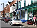 TF4066 : High Street, Spilsby - Panorama #1 of 2 by Dave Hitchborne